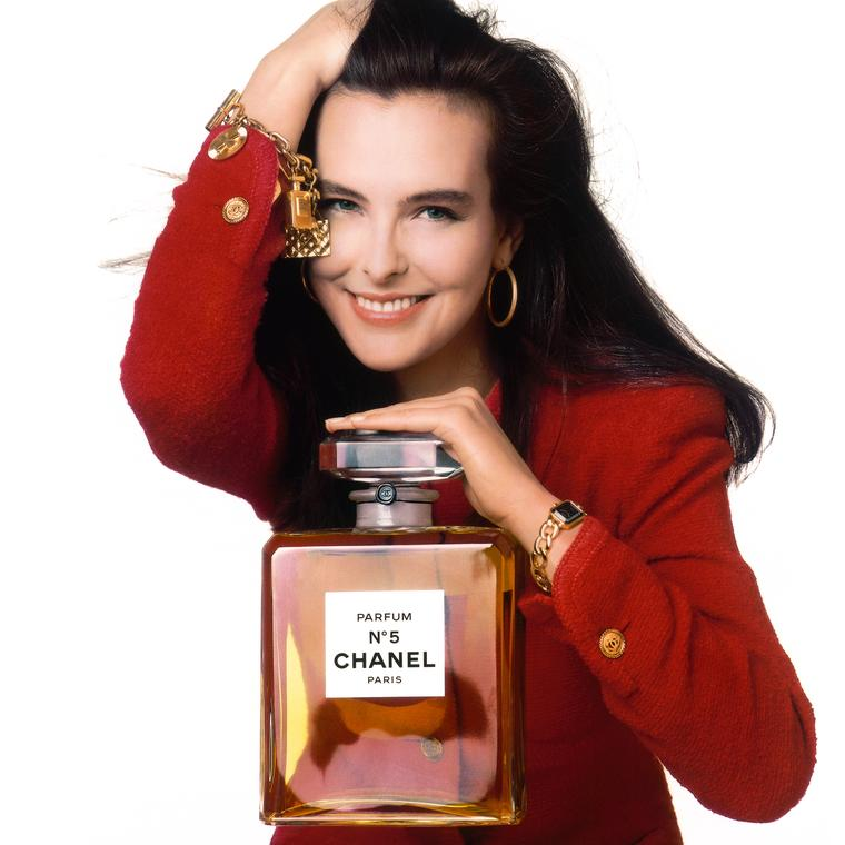 Carole Bouquet in Chanel's Première watch