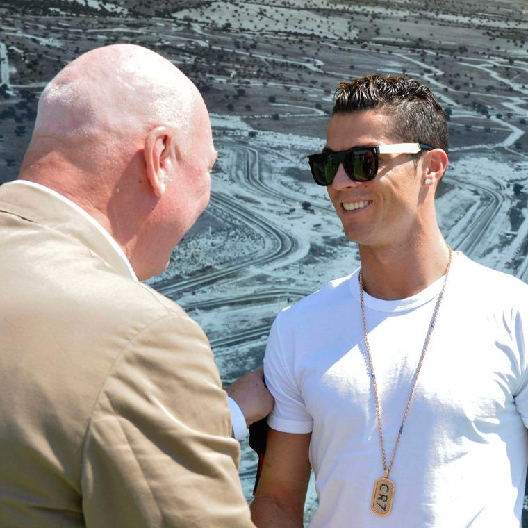 TAG Heuer CEO Jean-Claude Biver and Cristiano Ronaldo