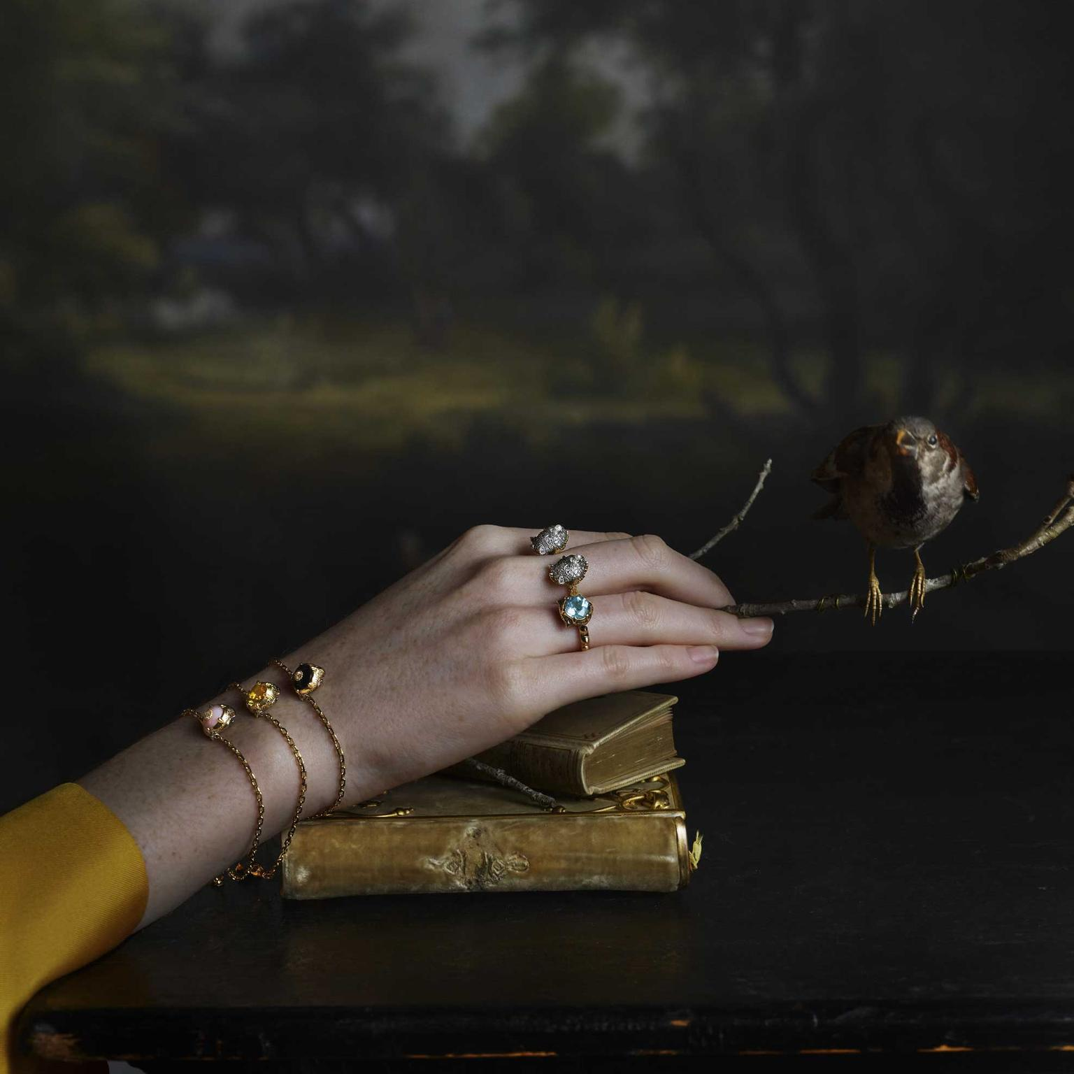 Gucci Le Marche des Merveilles jewels in portrait rings and bracelet Julia Hetta photography