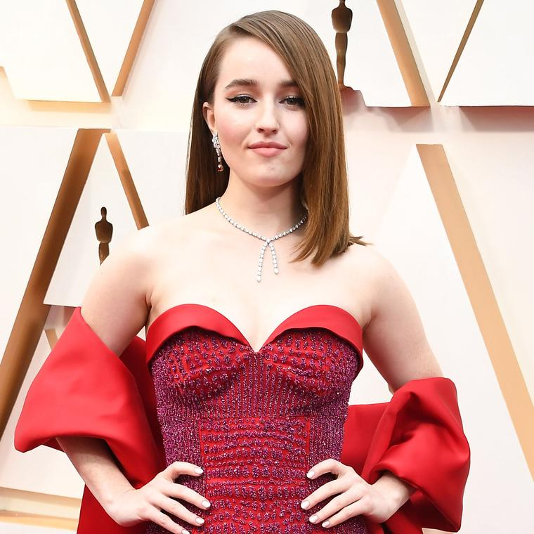 Kaitlyn Dever Oscars 2020 wearing Harry Winston