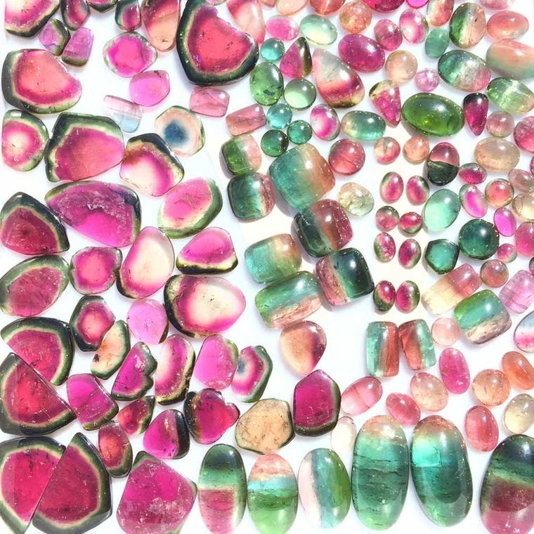 Watermelon tourmalines