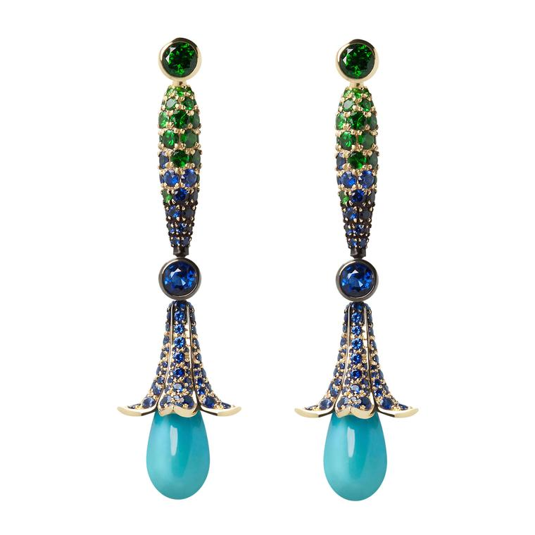 Ming Lampson Flower Drop earrings
