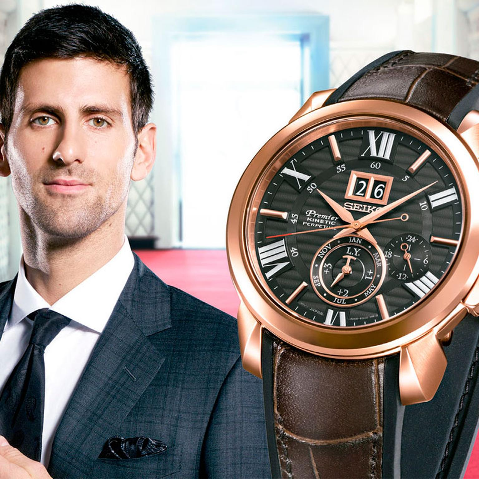 Novak djokovic the jewellery editor for Celebrity seiko watch