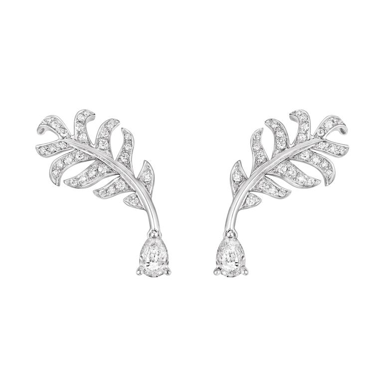 Chanel Plume Poire diamond earrings