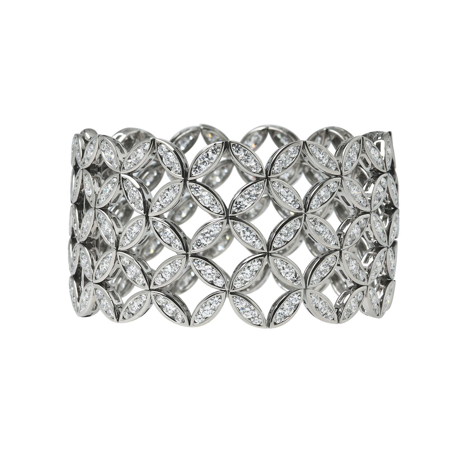 Ming Lampson Japanese Lattice diamond cuff