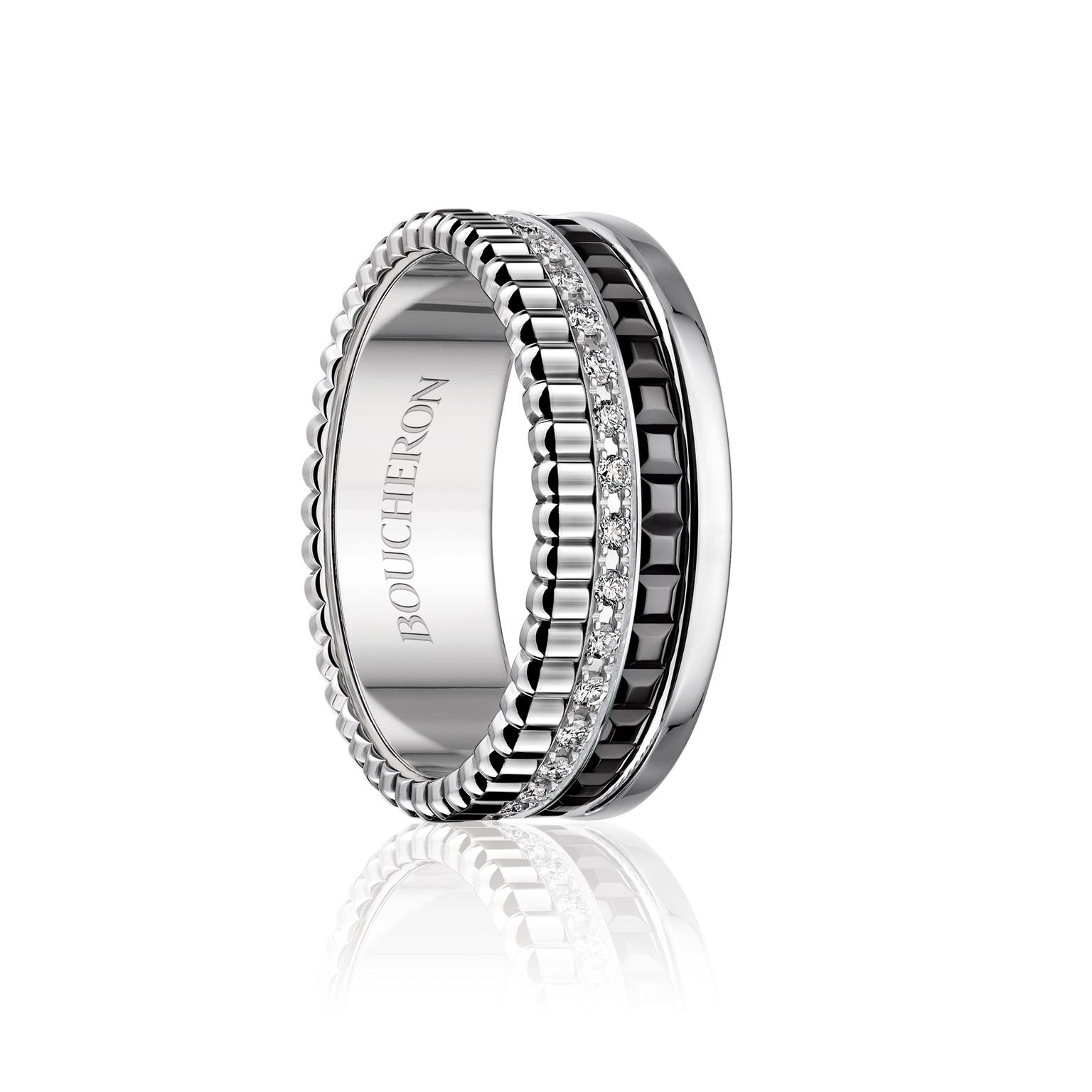 Boucheron Quatre ring with diamonds