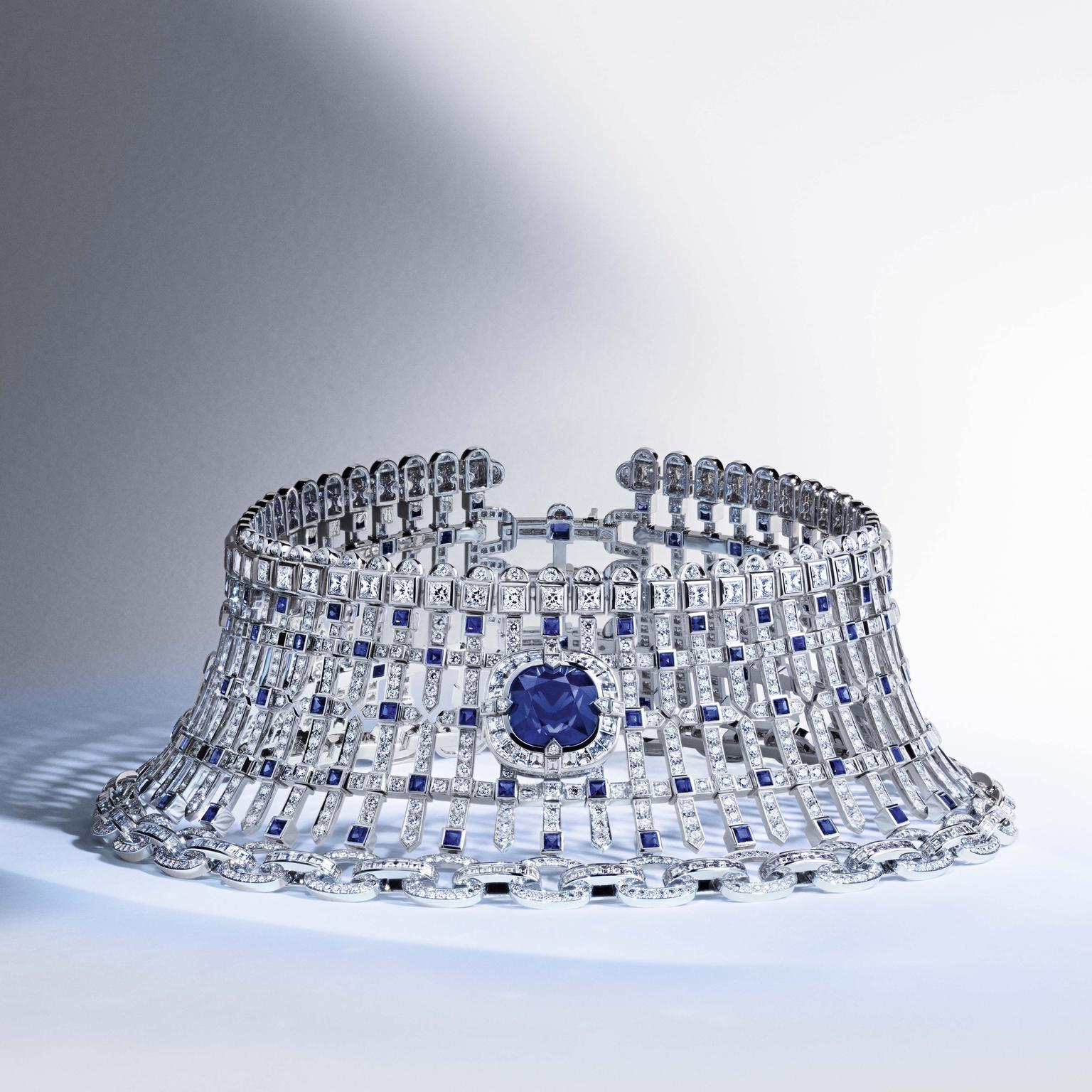 Louis Vuitton Riders of the Knights Le Royaume diamond and sapphire choker
