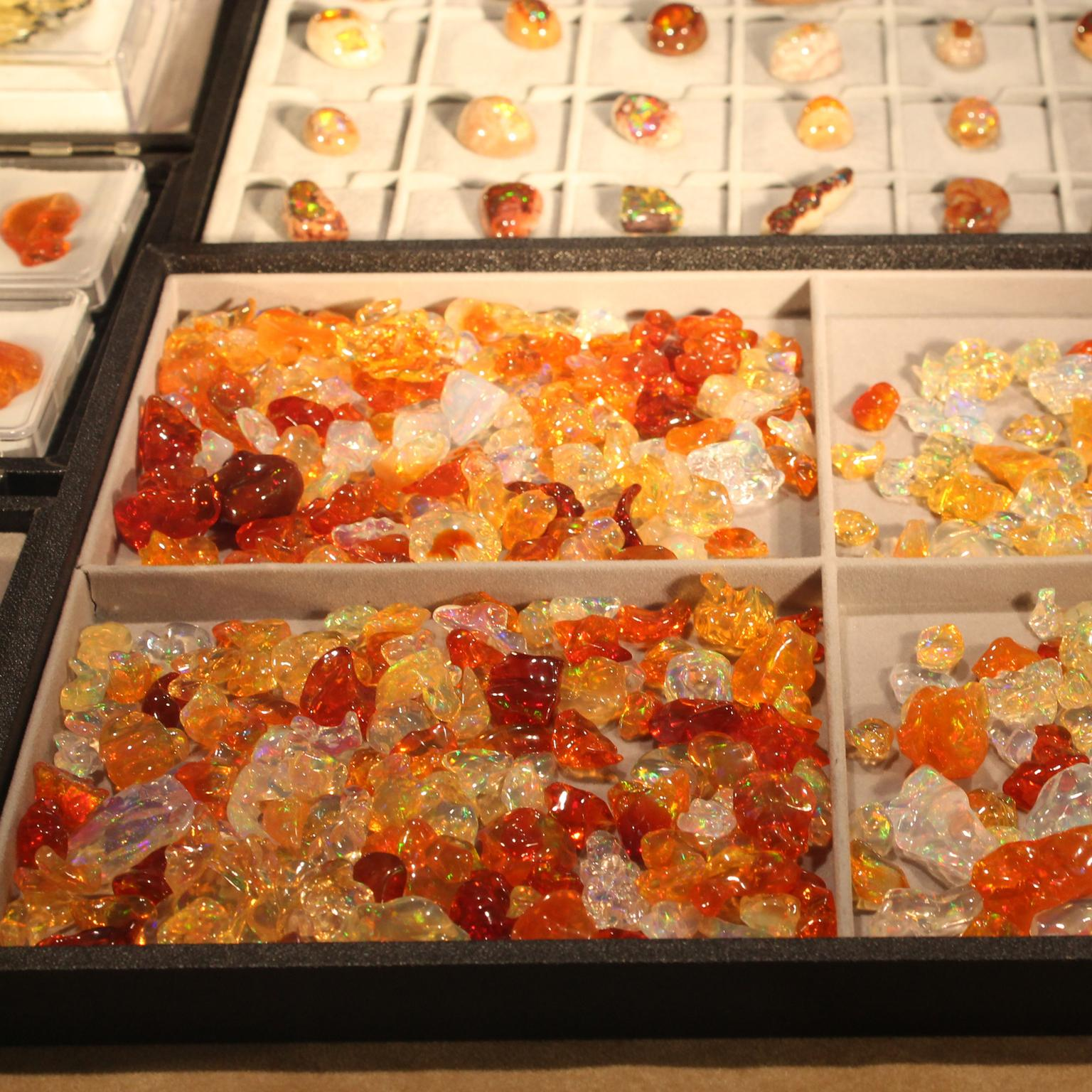 Baselworld Mexican fire opals