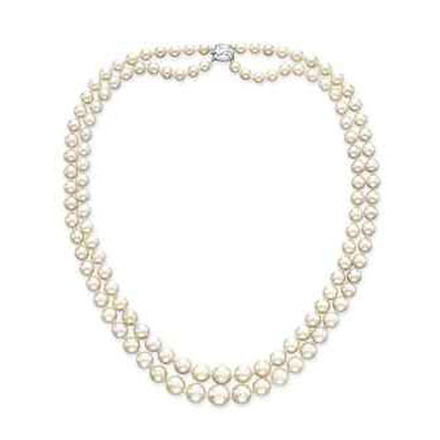 Cartier two-strand natural pearl necklace