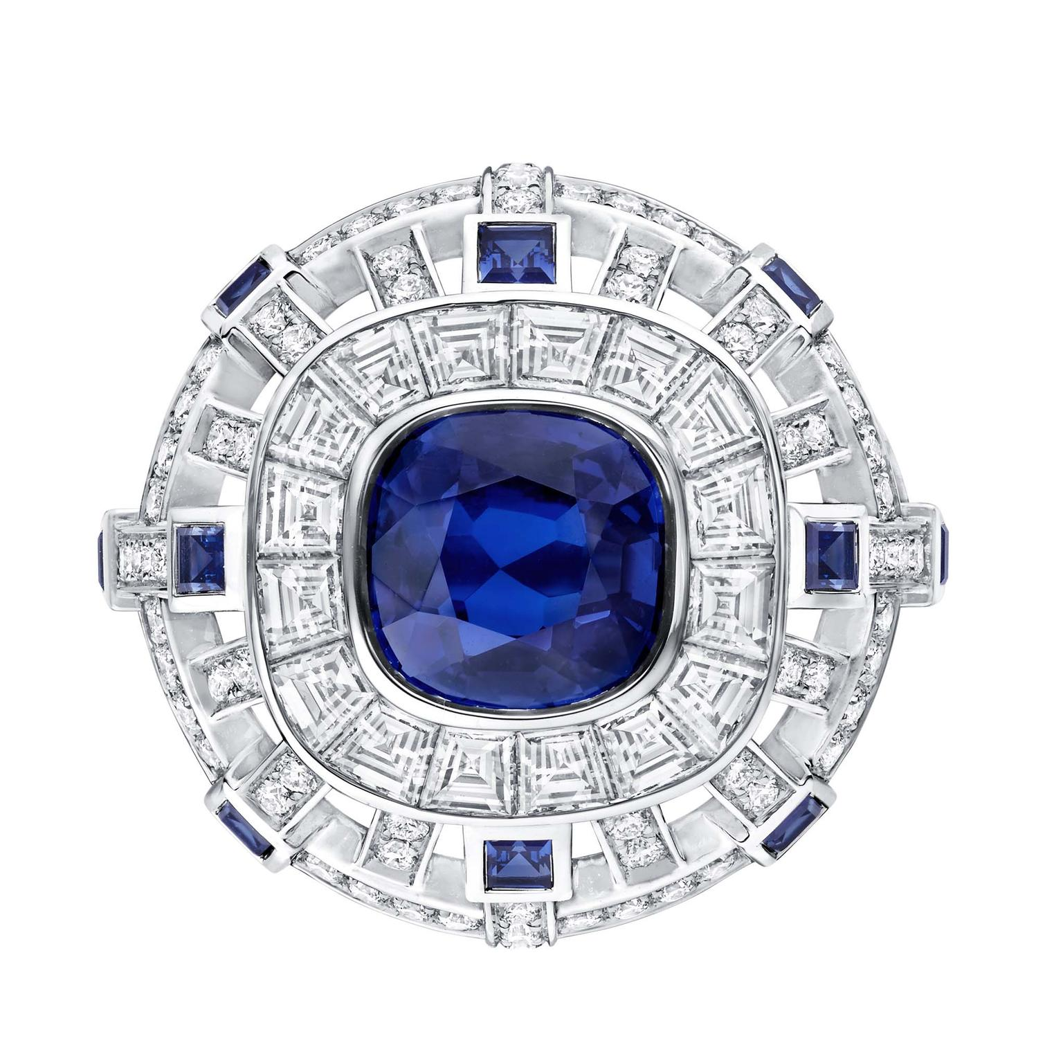 Louis Vuitton Riders of the Knights Le Royaume sapphire and diamond  ring