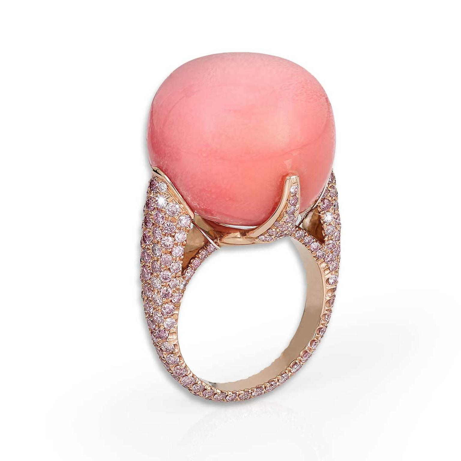 David Morris conch pearl ring weighing 44.55 carats