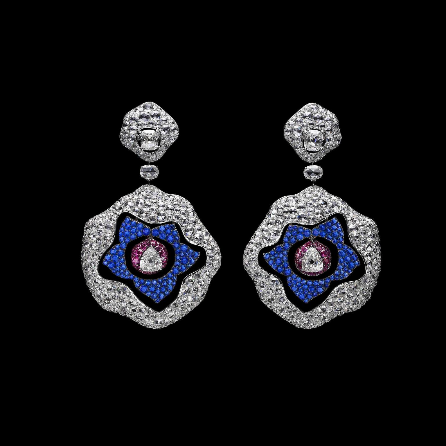 Carnet Diamond and Huaynite earrings