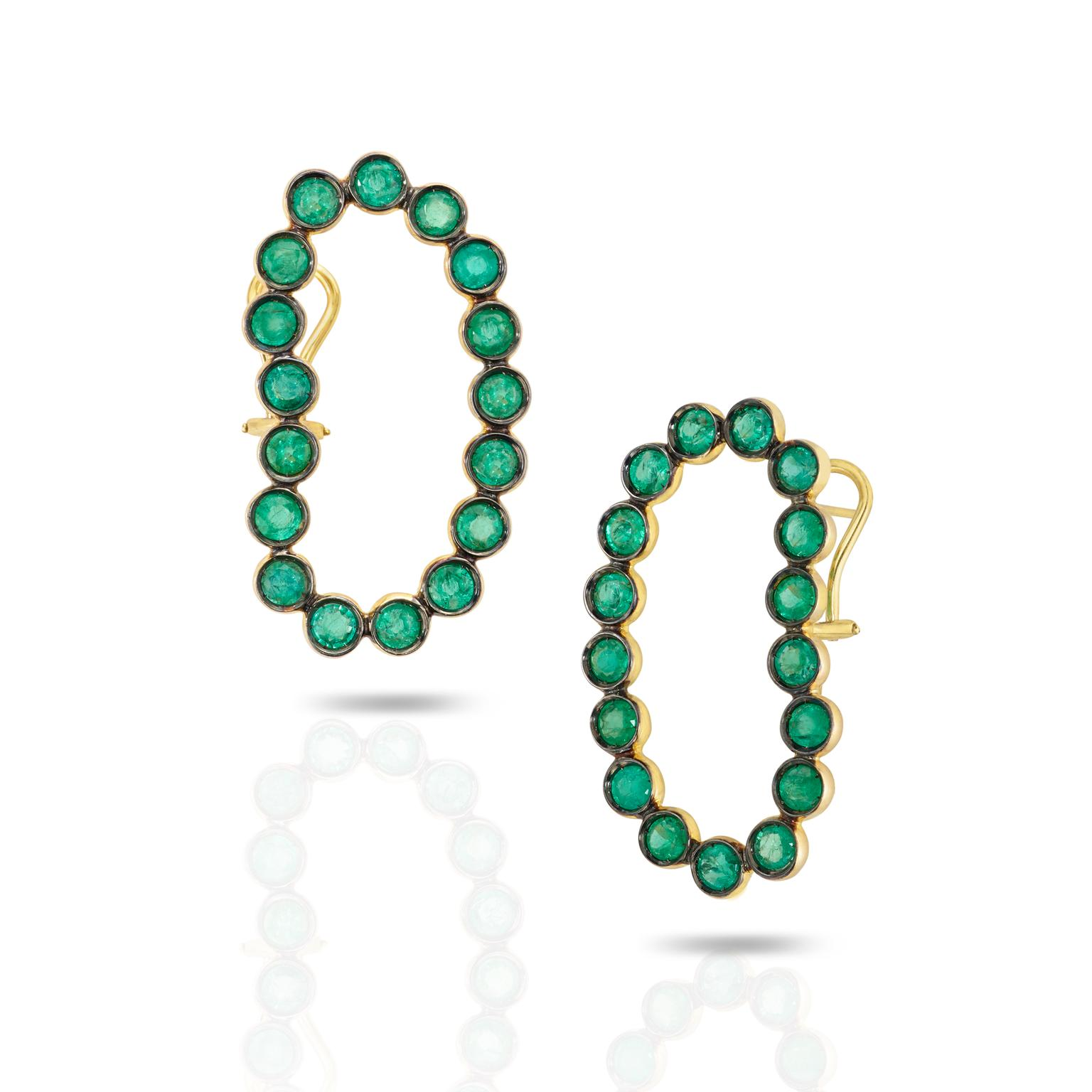 Ana Khouri Lourdes emerald earrings