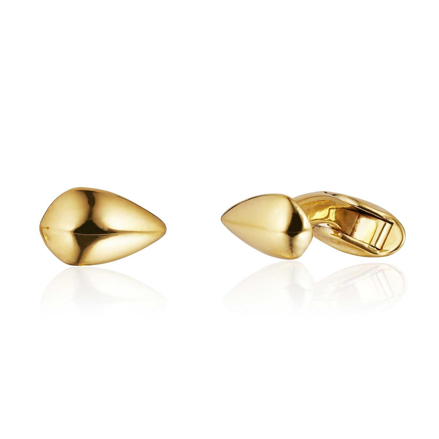 Patrick Mavros Pangolin Scale cufflinks in gold