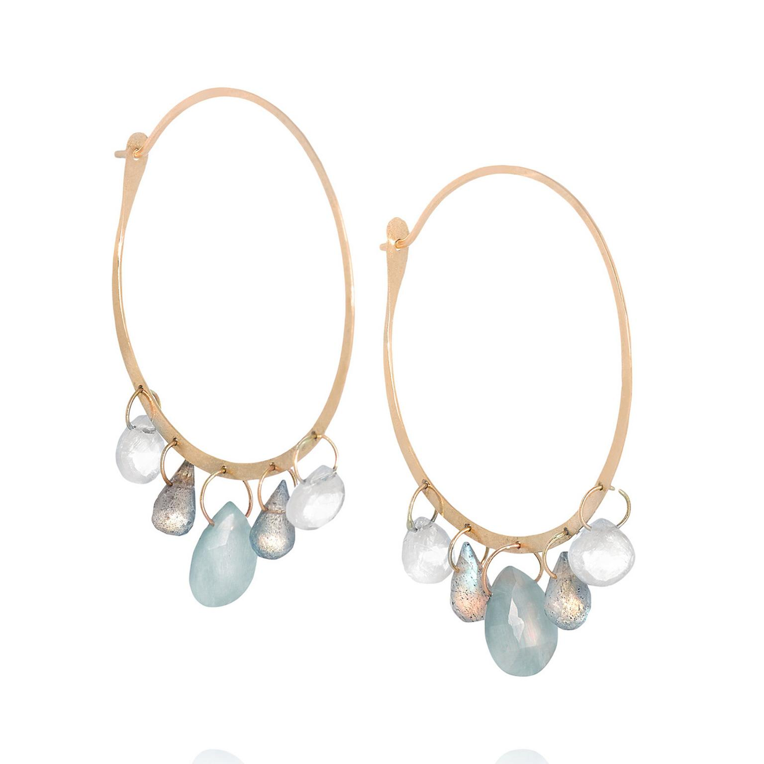 gold curved thread textured earrings jewellery oliver through hoop bonas