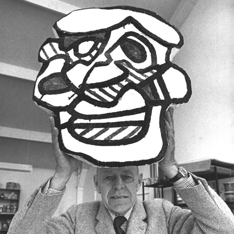Portrait Photograph of Jean Dubuffet