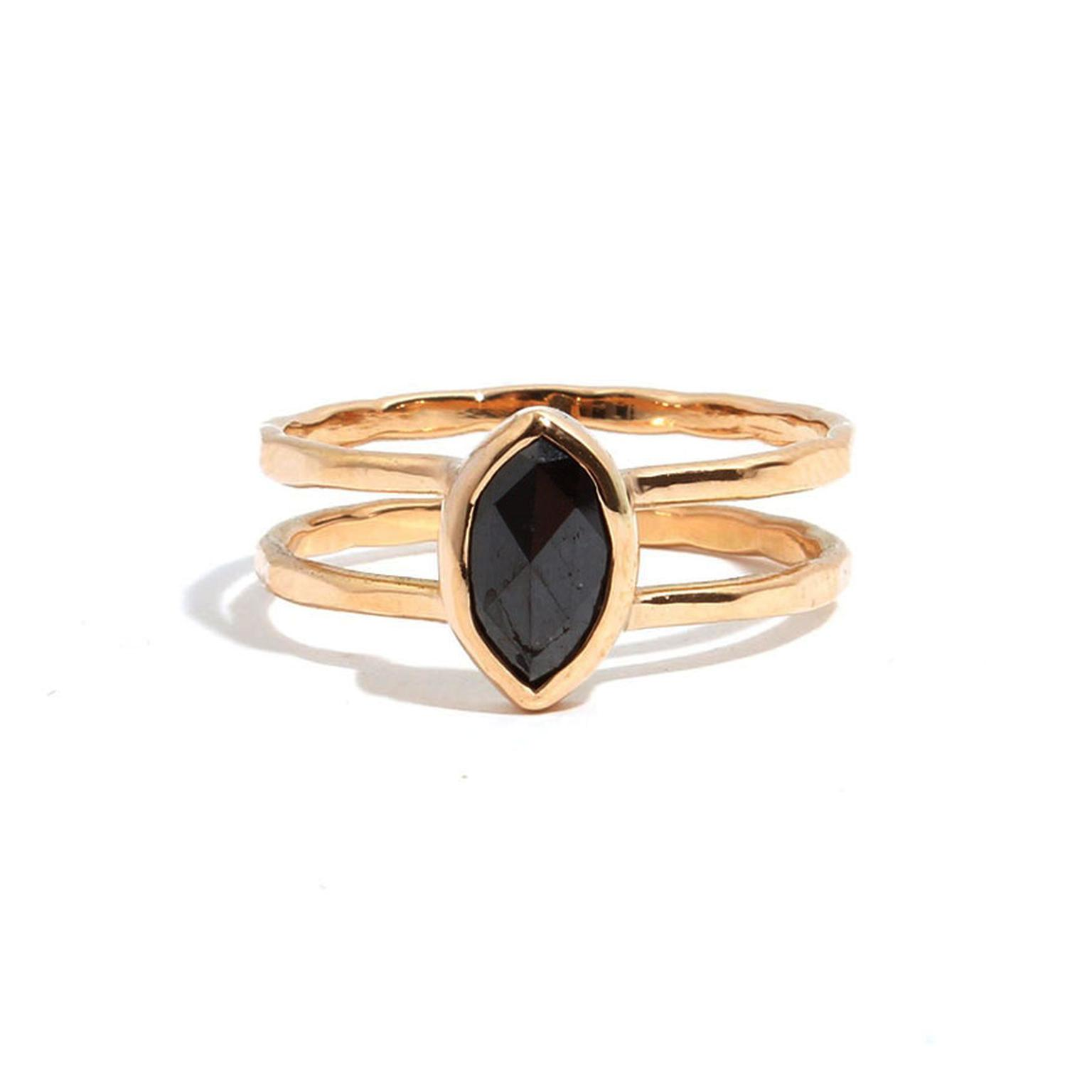 Melissa Joy Manning black diamond engagement ring