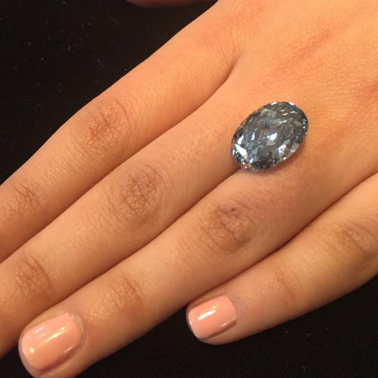 De Beers Millenium Blue diamond
