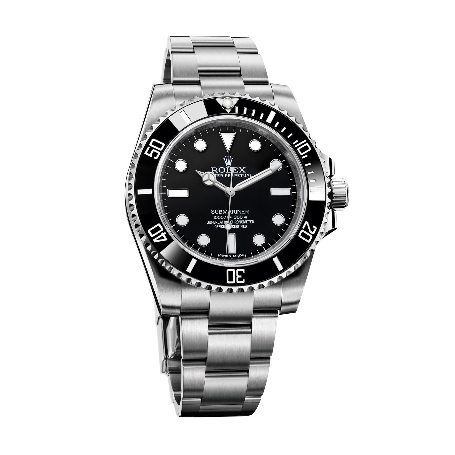 Rolex Submariner watch in steel