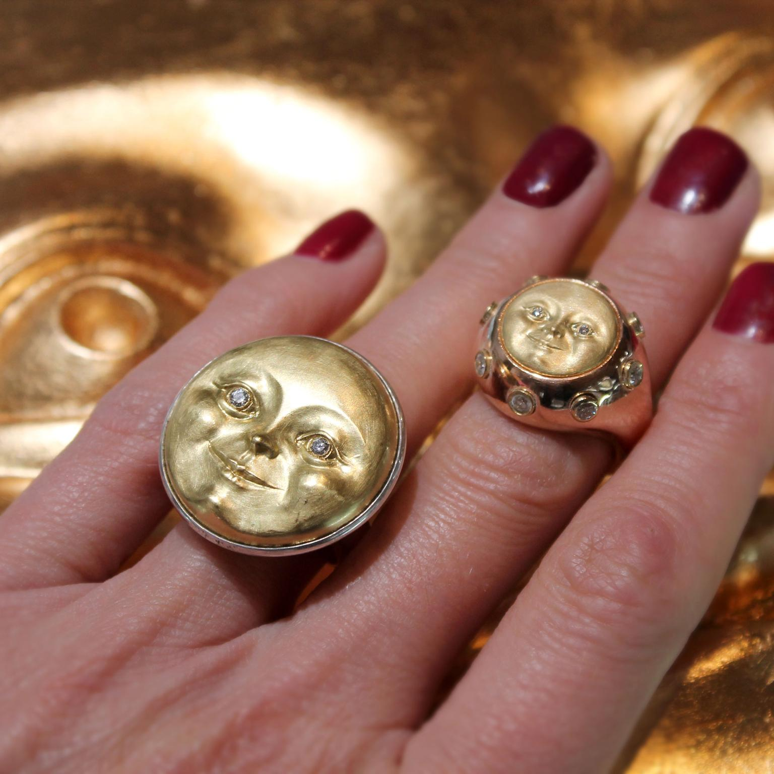Anthony Lent Moon face rings