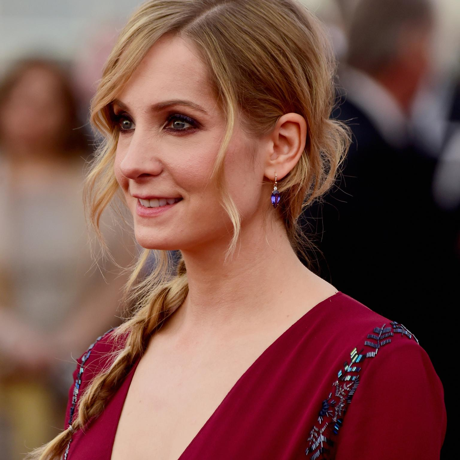 Joanne Froggatt wearing Irene Neuwirth red carpet jewelry
