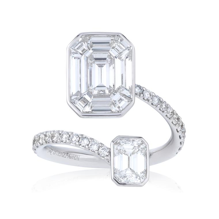 Stenzhorn Muse Princess invisible-set diamond ring