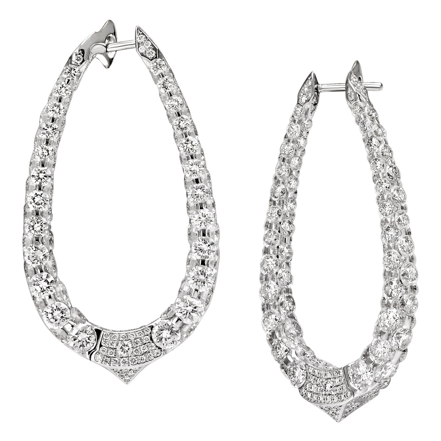 Boghossian Les Merveilles Creole hoop diamond earrings