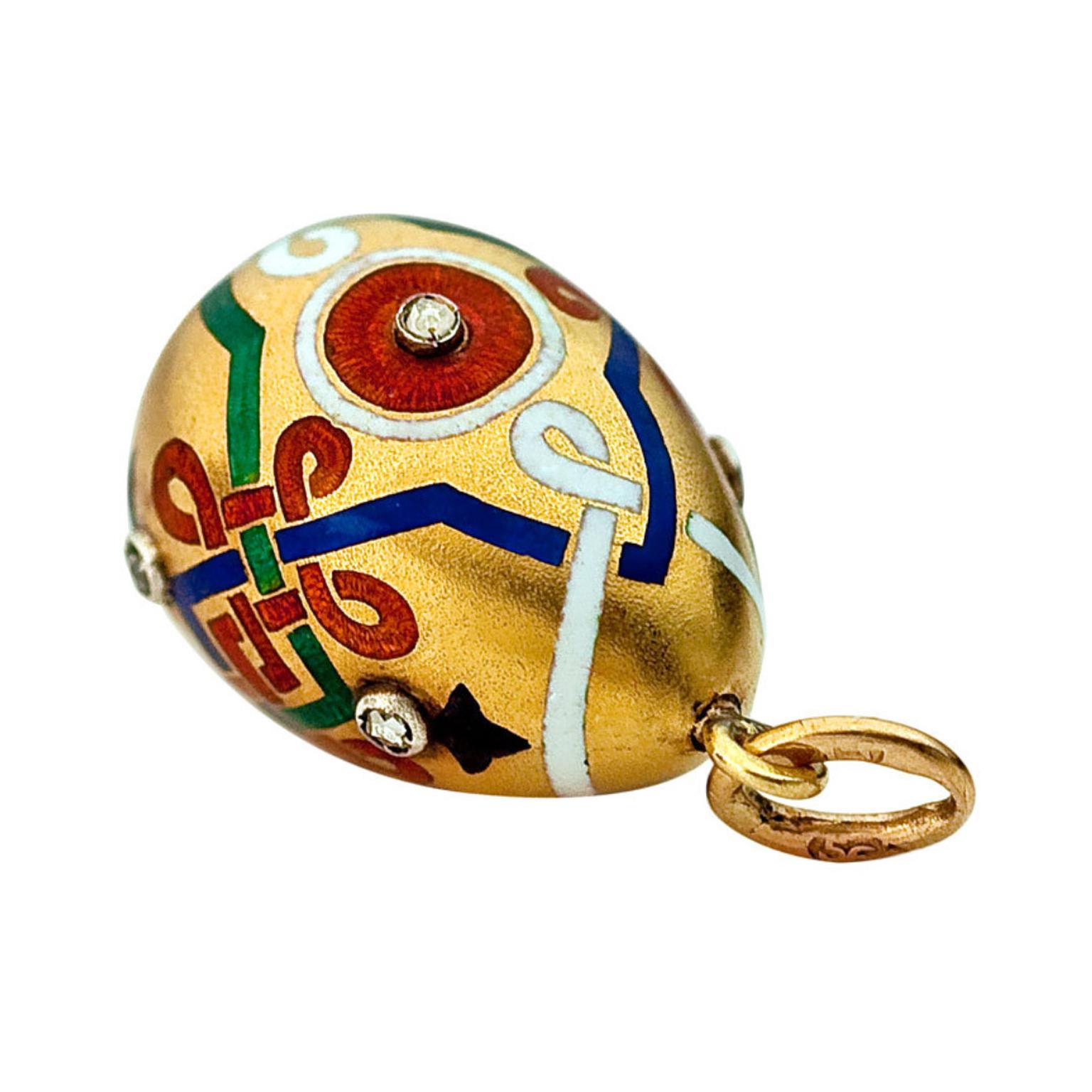 1stdibs Faberge Russian Revival egg charm