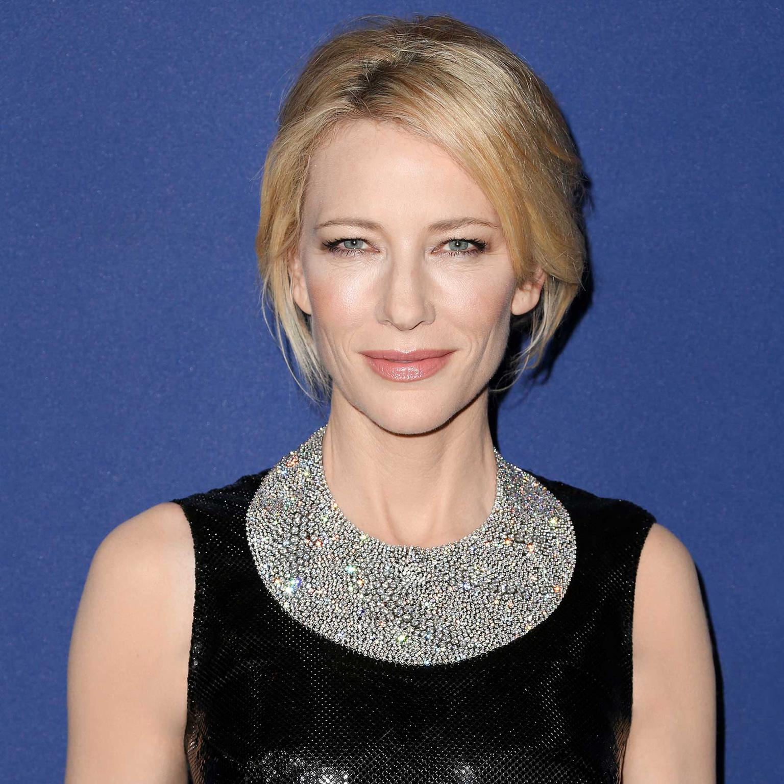 Cate Blanchett wears Tiffany Blue Book diamond bib