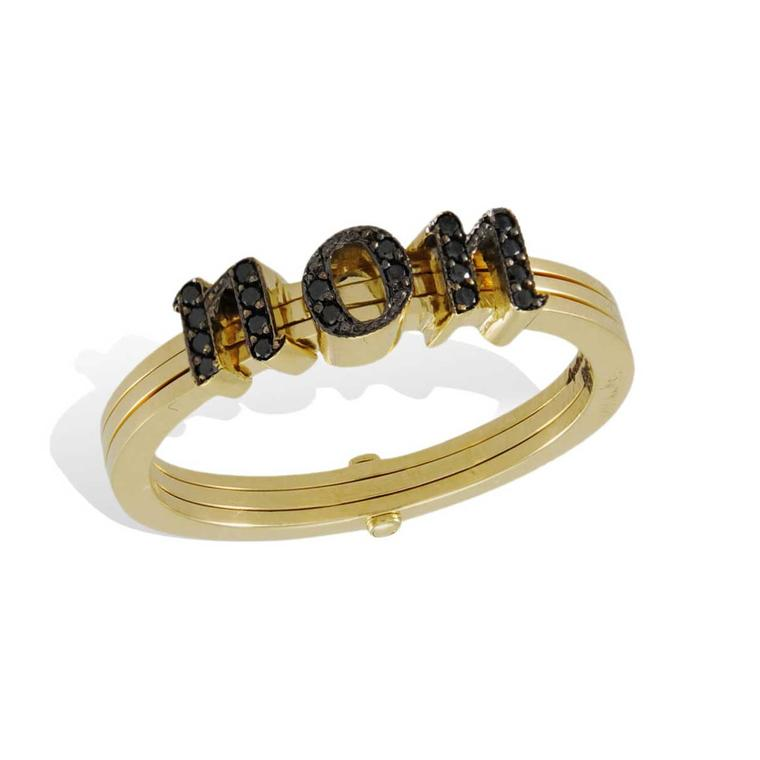 Lydia Courteille gold and black diamond Non ring