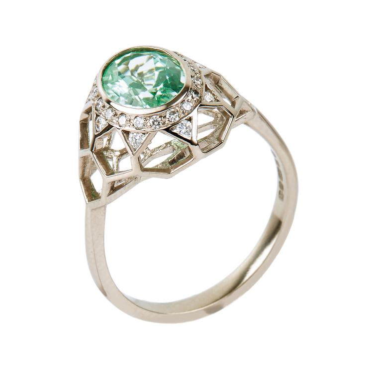 Guy & Max Digital Nature Paraiba tourmaline ring