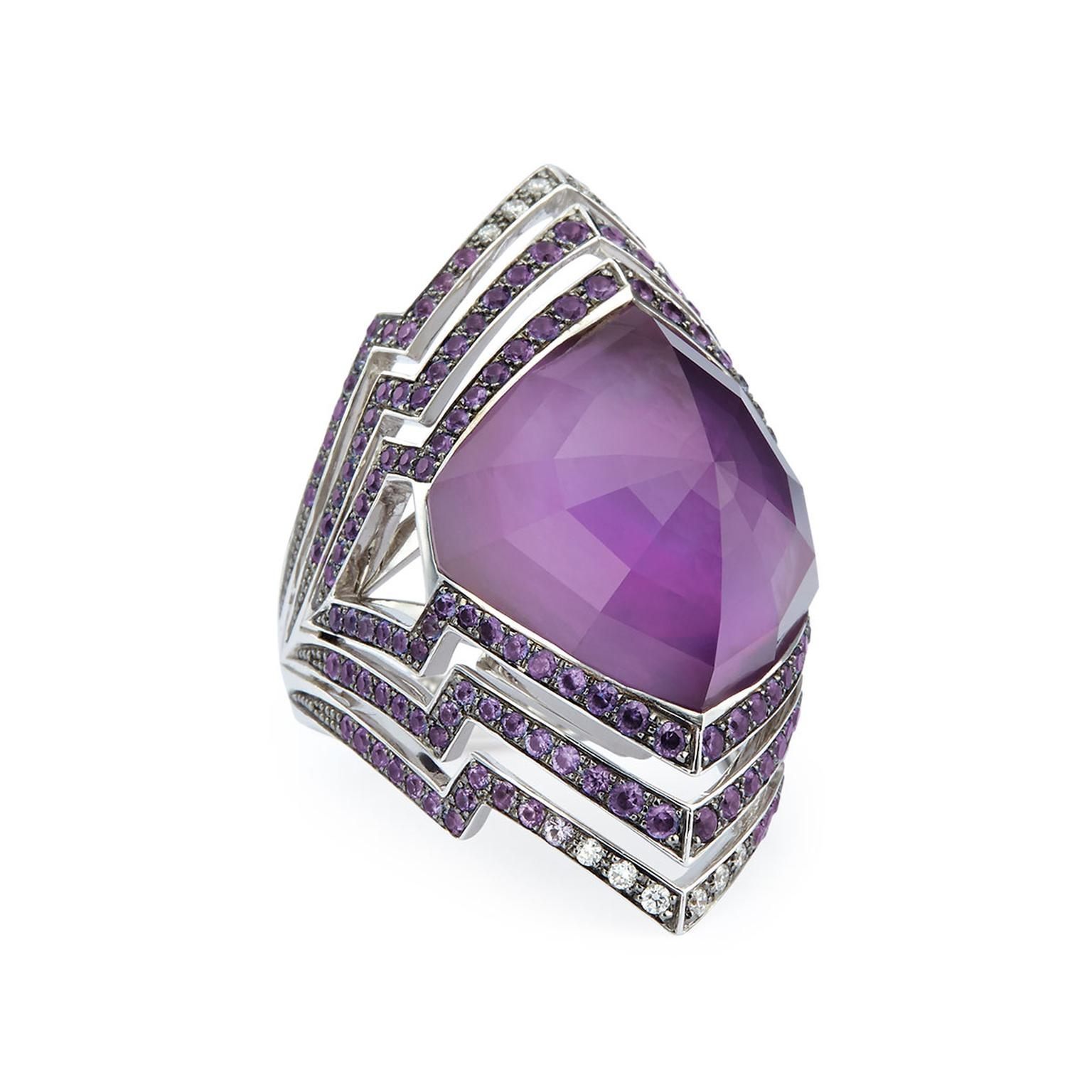 Stephen Webster Lady Stardust amethyst cocktail ring