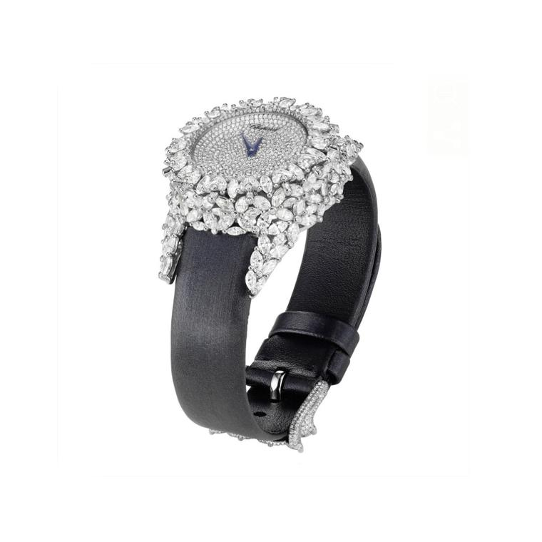 Diamond watches for her WS Theme square Chopard Green Carpet watch