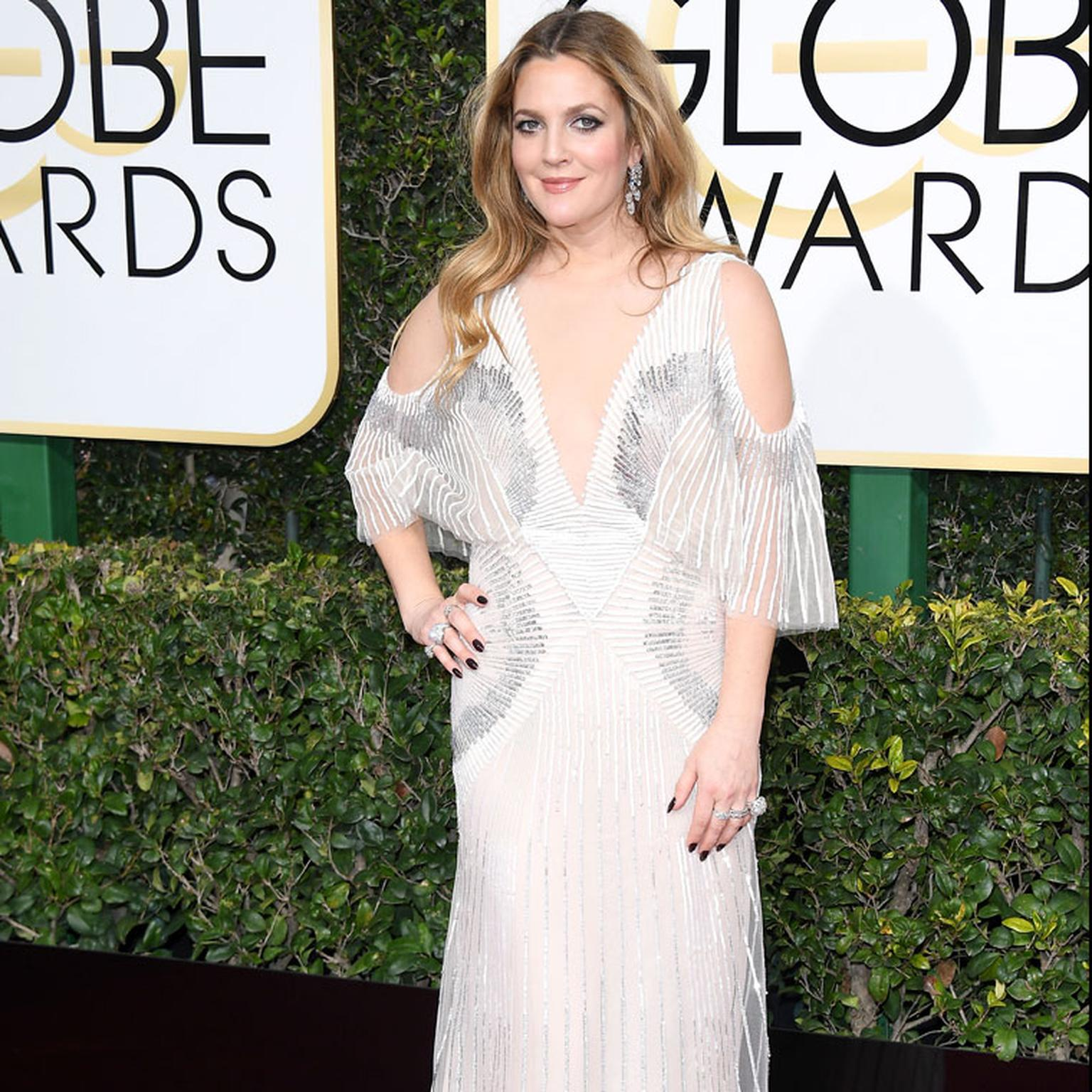 Drew Barrymore wears Harry Winston