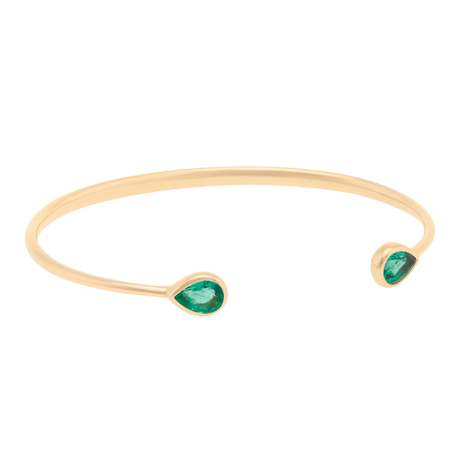AYA Africa Chirundu bangle with Gemfields emeralds