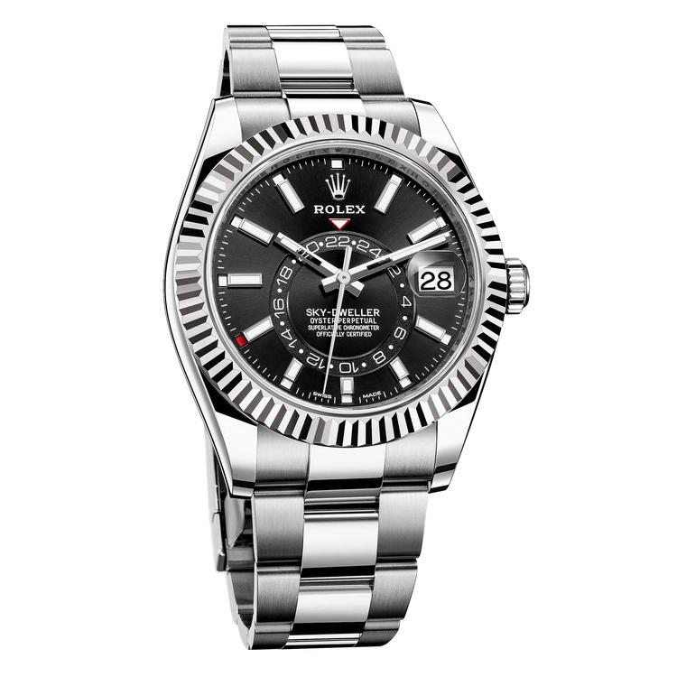 Federer Rolex Sky-Dweller in White Rolesor with black dial Price £10,600