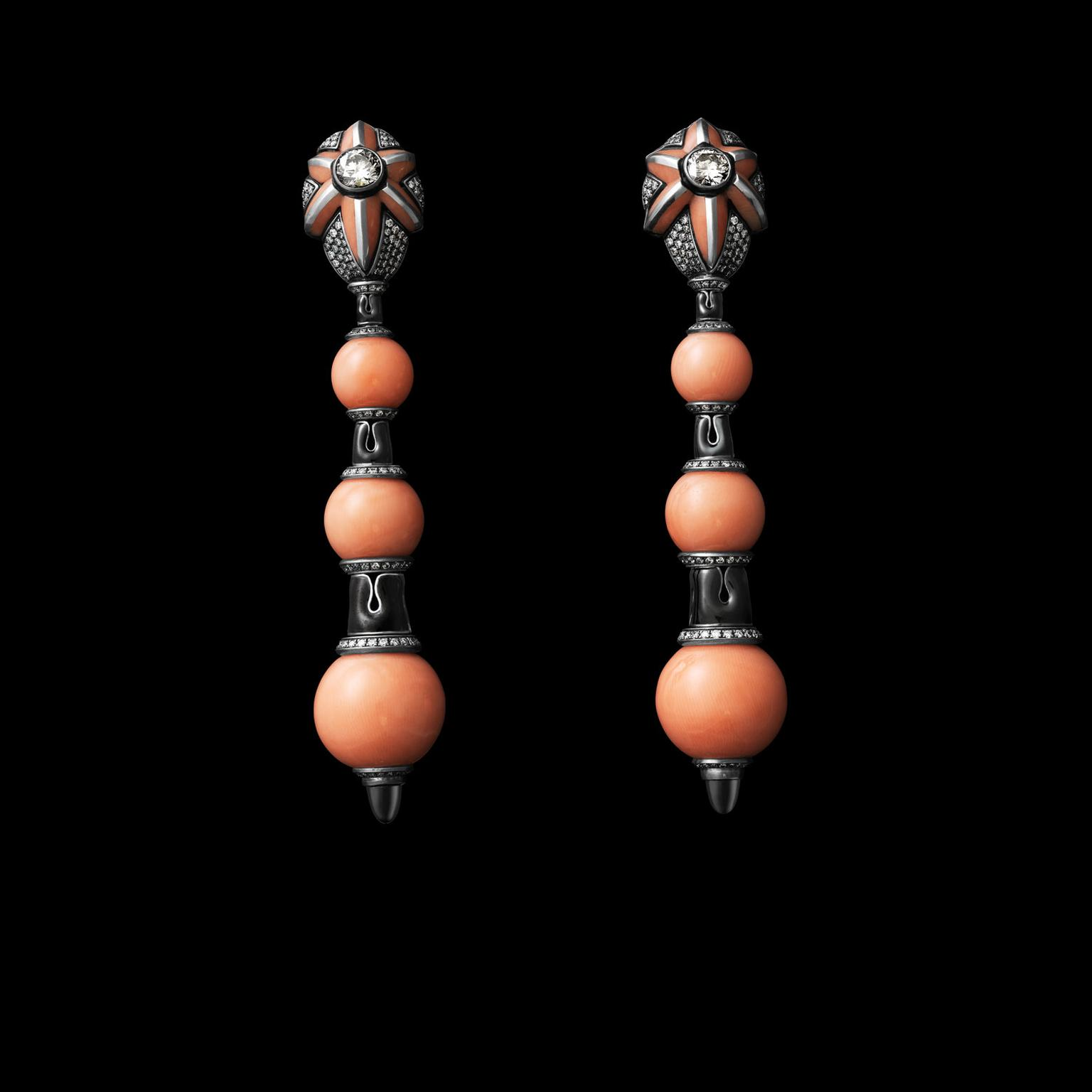 Otto Jakob Aomame coral earrings