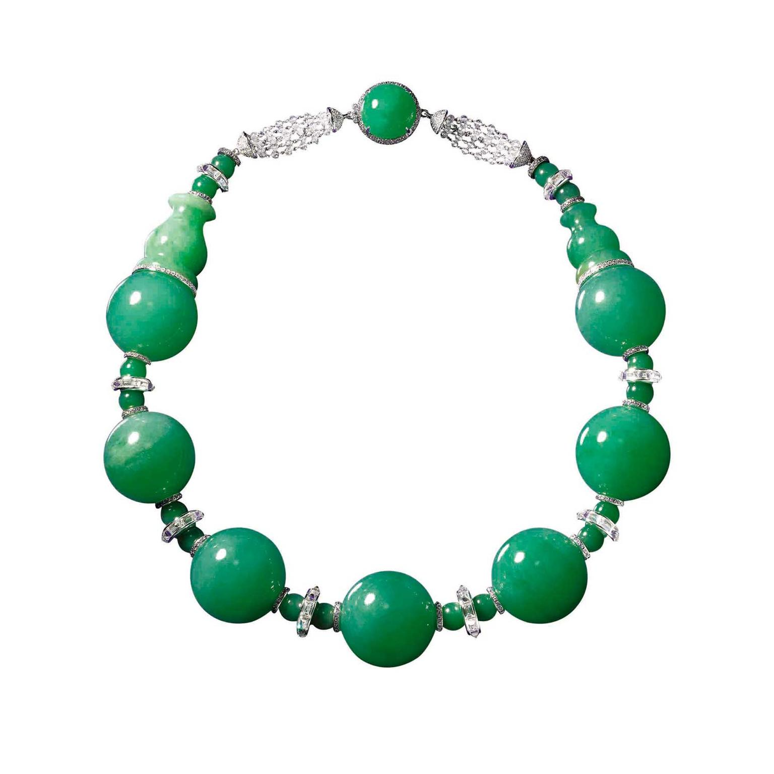 Boghossian Imperial jadeite bead necklace