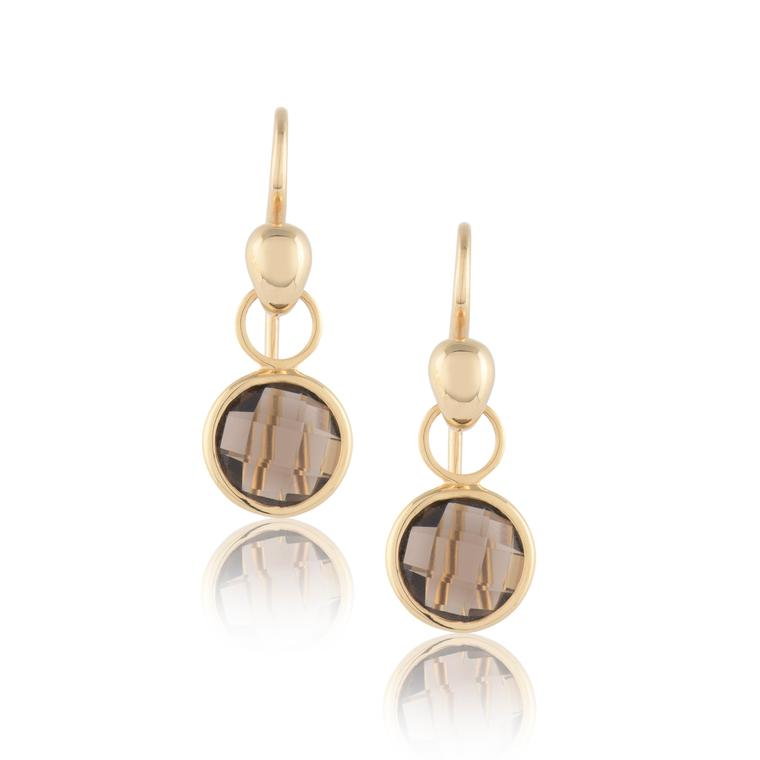 Biiju smoky quartz earrings