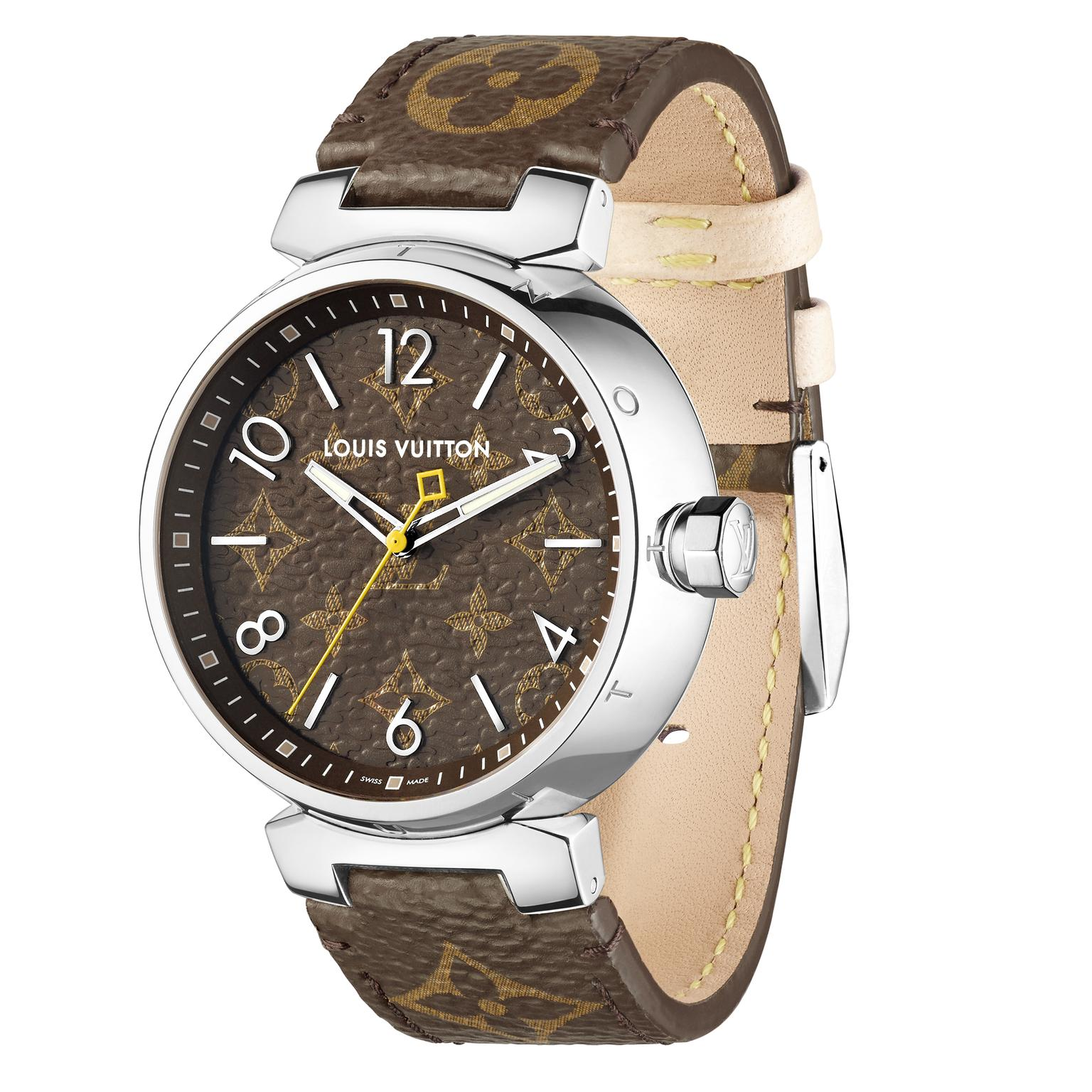 Louis Vuitton Icon Tambour Monogram watch side view 39.5 mm