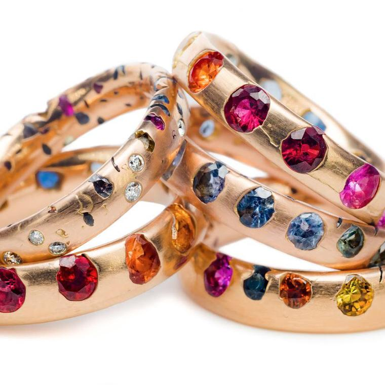 Confetti wedding band from Polly Wales