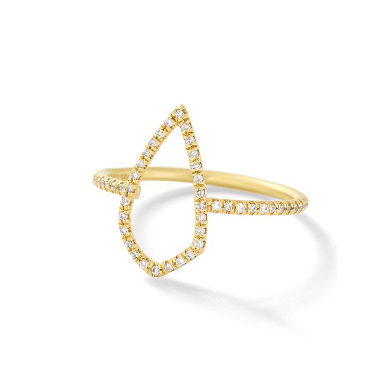Savannah Stranger gold diamond ring