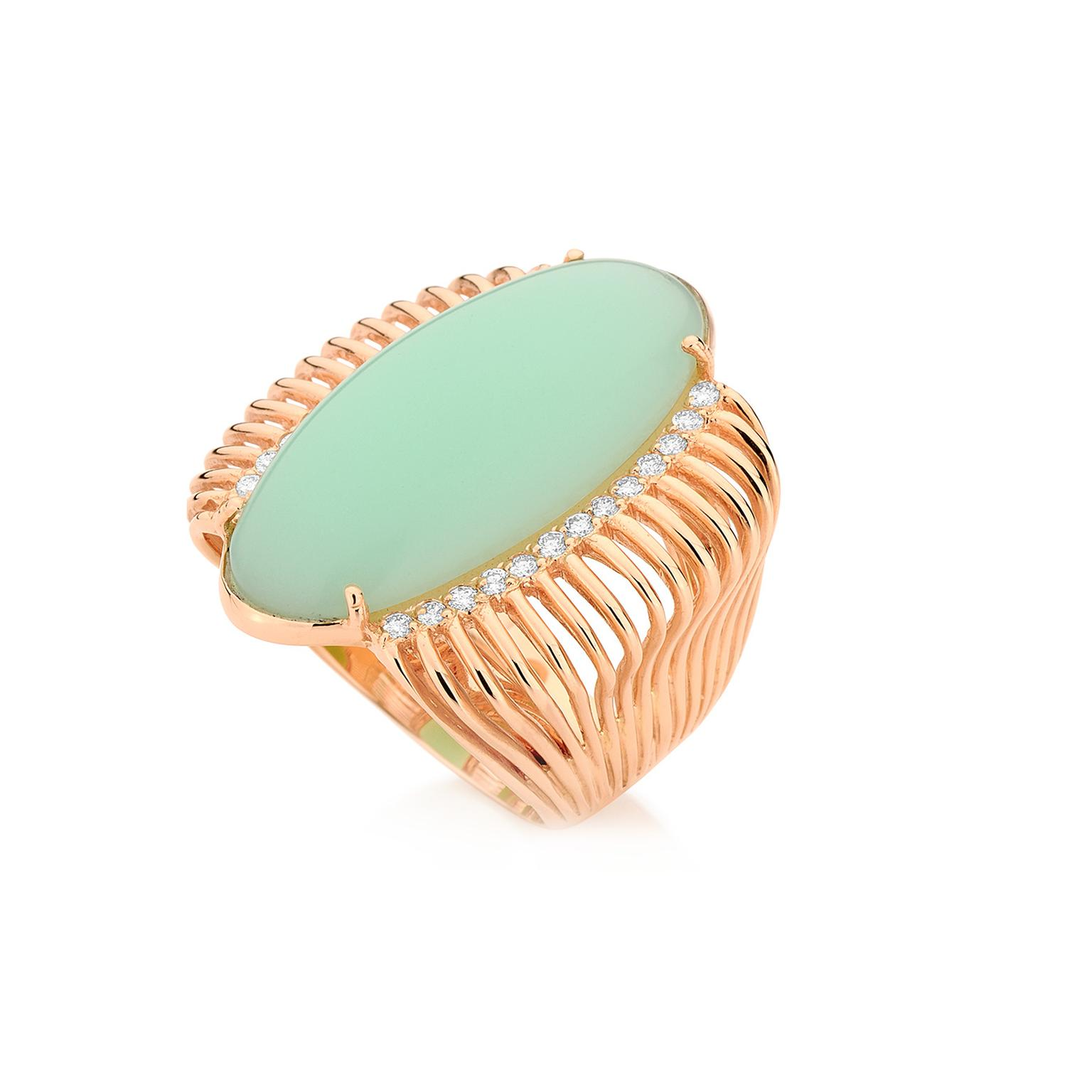Carla Amorim Pistache Chrysoprase cocktail ring
