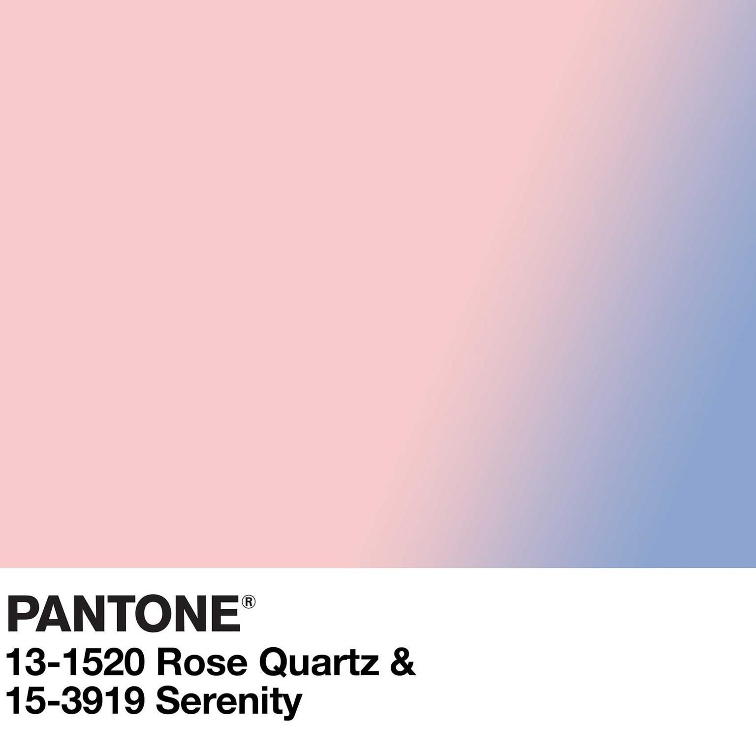 Pantone Color of the Year chart