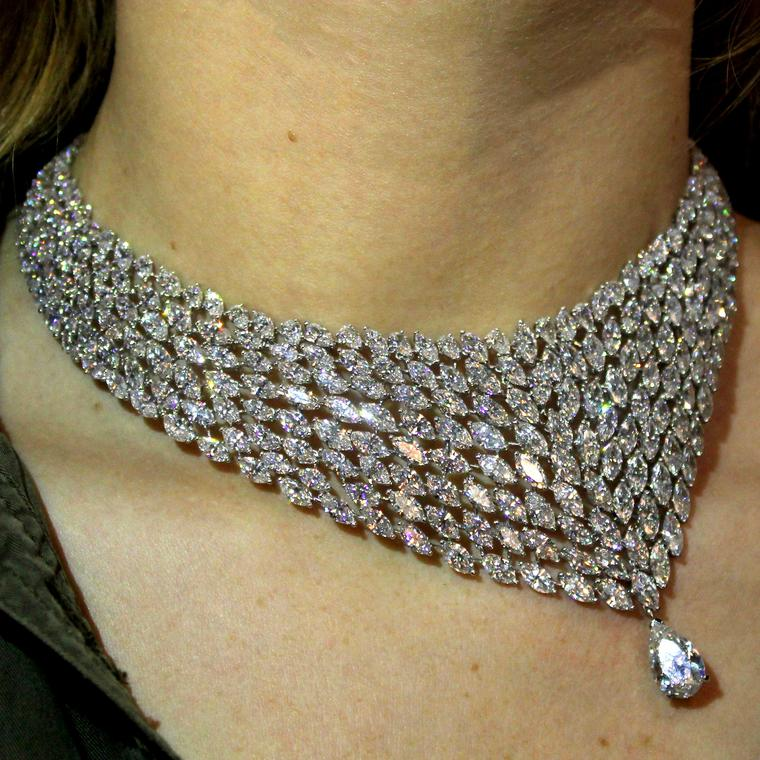 Messika high jewellery diamond necklace