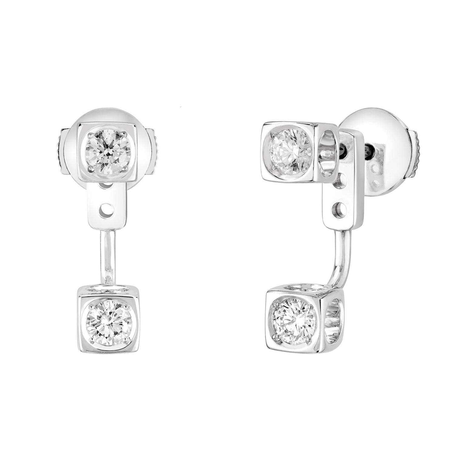 Dinh Van Le Cube Diamant earrings white gold