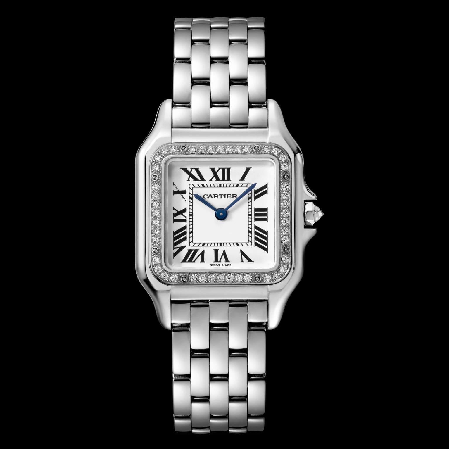 Panthere de Cartier watch in white gold with diamonds