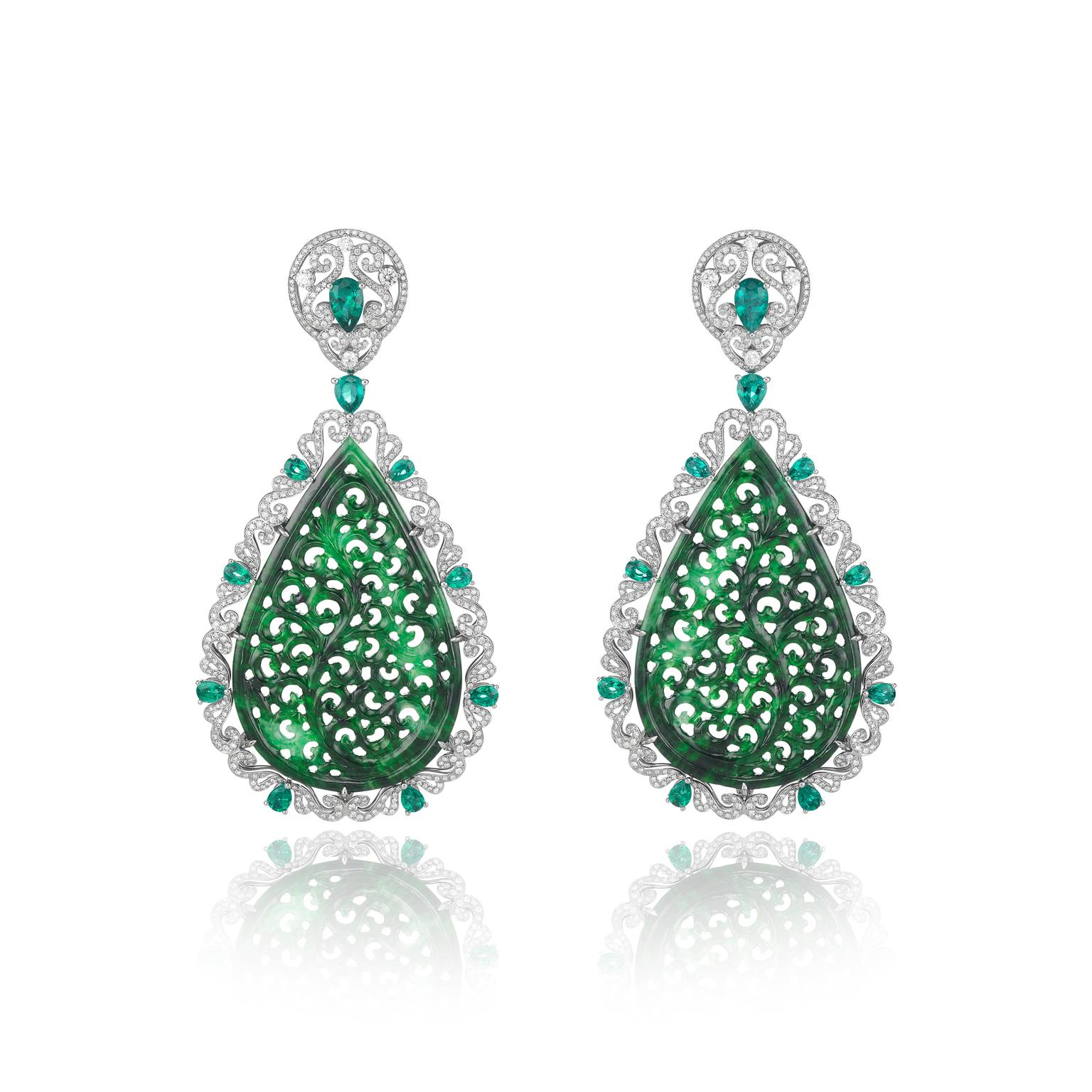 Chopard Haute Joaillerie Jadeite Earrings