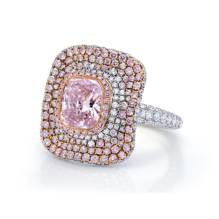 Martin Katz pink diamond ring