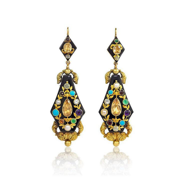 Kentshire repoussé antique earrings